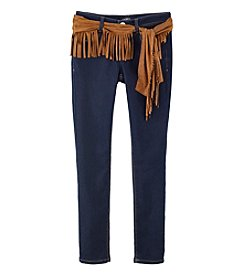 Squeeze® Girls' 7-14 Skinny Jeans With Fringe Sash