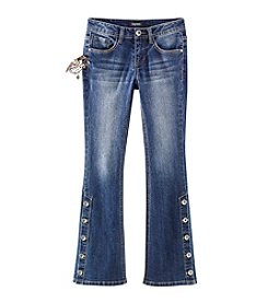 Squeeze® Girls' 7-14 Button Leg Seam Bootcut Jeans