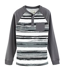 Ruff Hewn Boys' 8-20 Long Sleeve Striped Henley