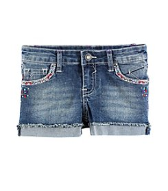Vigoss® Girls' 7-16 Geo Embroidered Shorts