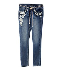 Squeeze® Girls' 7-14 Floral Embroidered Skinny Jeans