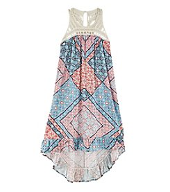 Jessica Simpson Girls' 7-16 Crochet Kalypso Bandana High-Low Dress