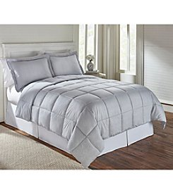 LivingQuarters Reversible Microfiber Down-Alternative Dani Grey Comforter