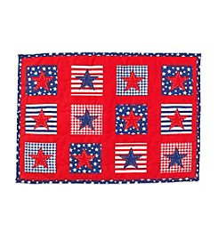LivingQuarters Americana Quilted Star Placemat