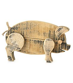LivingQuarters Decorative Wood Pig