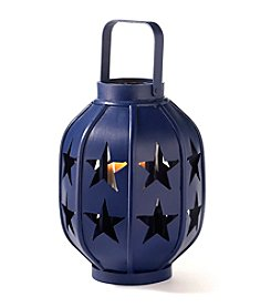 LivingQuarters Americana Collection Blue Star Lantern
