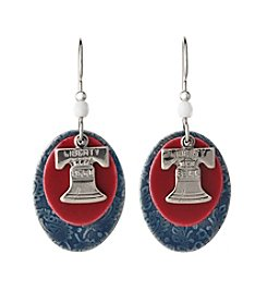 Silver Forest® Silvertone Liberty Bell Earrings