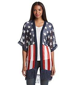 Cejon® Flag Print Kimono