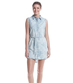Hippie Laundry Bandana Chambray Shirt Dress