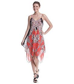 A. Byer Printed Necklace Hanky Dress