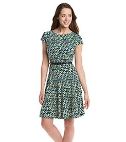 Jessica Howard® Petites' Pintuck Fit And Flare Dress