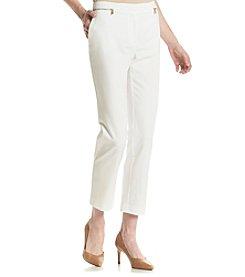 Calvin Klein Gold Zipper Ankle Pants