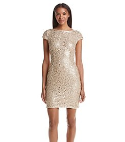Adrianna Papell® Sequin Lace Shift Dress