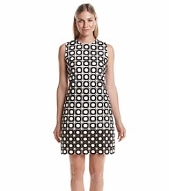 Calvin Klein Eyelet Midi Sheath Dress