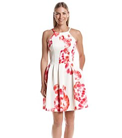 Calvin Klein Floral Scuba Dress