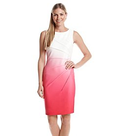 Calvin Klein Ombre Scuba Sheath Dress