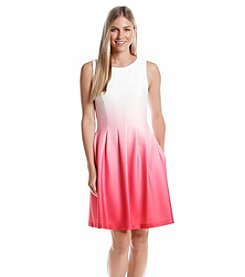 Calvin Klein Ombre Fit And Flare Dress