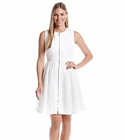Calvin Klein Zip Fit And Flare Dress