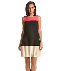 Adrianna Papell® Colorblock Pleated Dress
