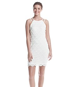 GUESS Lace Fringe Sheath Dress