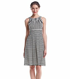 Nine West® Striped Pleated Dress