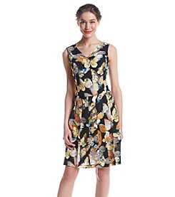 Nine West® Butterfly Printed Dress