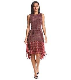 Taylor Dresses Printed Chiffon Dress