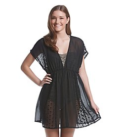 Miken® Chiffon Cover-Up With Crochet Insets