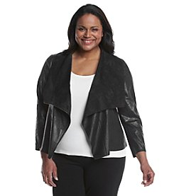 Ruff Hewn GREY Plus Size Draped Jacket