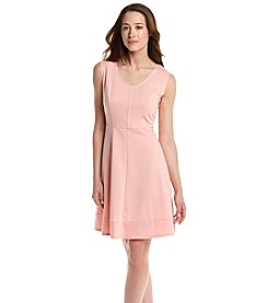 Notations® Petites' Solid Ponte Dress