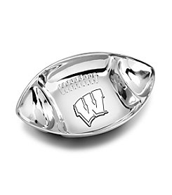 Wilton Armetale® University of Wisconsin Football Chip & Dip Bowl
