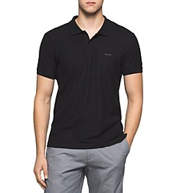 Calvin Klein Men's Short Sleeve Liquid Cotton Polo Shirt