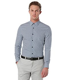 Perry Ellis® Men's Long Sleeve Printed Button Down Shirt