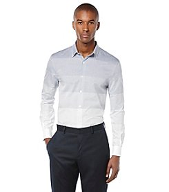 Perry Ellis® Men's Long Sleeve Gradual Stripe Button Down Shirt