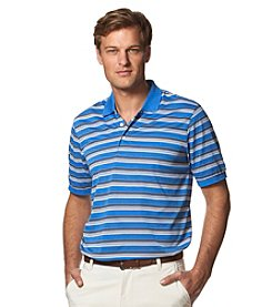 Chaps® Men's Textured Multi Stripe Short Sleeve Golf Polo