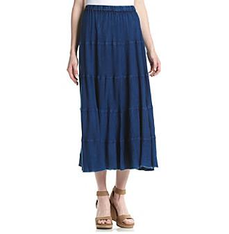 Studio West Enzyme Long Skirt plus size,  plus size fashion plus size appare