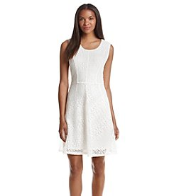 Notations® Lace Fit And Flare Dress