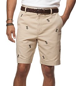 Chaps® Men's Pineapple Embroidered Shorts