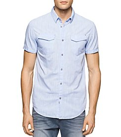 Calvin Klein Jeans® Men's Short Sleeve Chambray Button Down Shirt