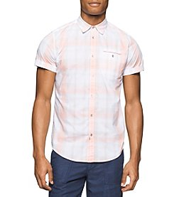 Calvin Klein Jeans® Men's Ocean Plaid Short Sleeve Button Down Shirt