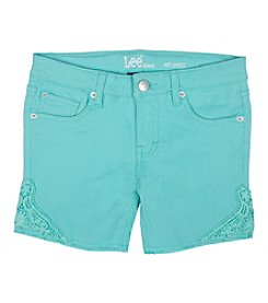 Lee® Girls' 7-16 Crochet Applique Shorts