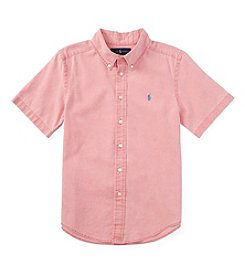 Ralph Lauren Childrenswear Boys' 8-20 Short Sleeve Button Down Shirt