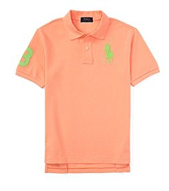 Ralph Lauren Childrenswear Boys' 8-20 Short Sleeve Big Pony Mesh Polo