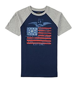 Polo Ralph Lauren® Boys' 8-20 Short Sleeve Flag Baseball Tee