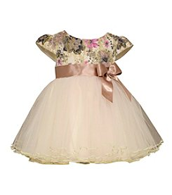 Bonnie Jean® Baby Girls' Glitter Floral Empire Dress
