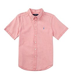 Ralph Lauren Childrenswear Boys' 2T-7 Short Sleeve Button Down Shirt