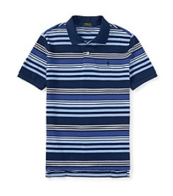 Polo Ralph Lauren® Boys' 2T-7 Short Sleeve Striped Mesh Polo