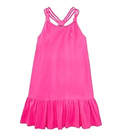 Ralph Lauren Childrenswear Girls' 2T-6X Braided Tank Dress