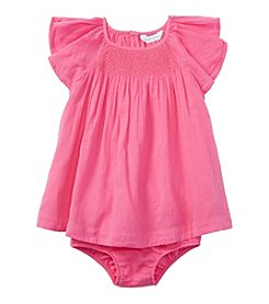 Ralph Lauren® Baby Girls' Smocked Gauze Dress Set