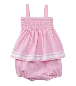 Ralph Lauren® Baby Girls' Smocked Top And Shorts Set